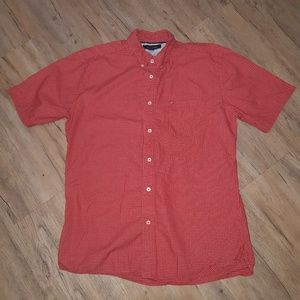 🌟Men's Tommy Hilfiger Red Button Down Shirt Large